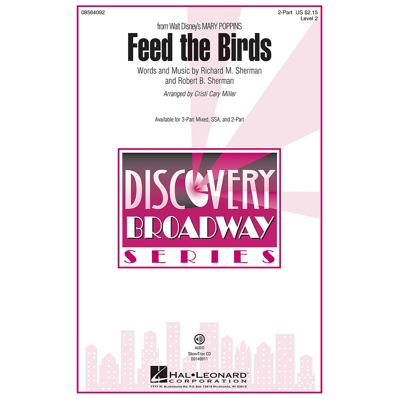 Hal Leonard Feed the Birds (from Mary Poppins) 2-Part arranged by Cristi Cary Miller thumbnail