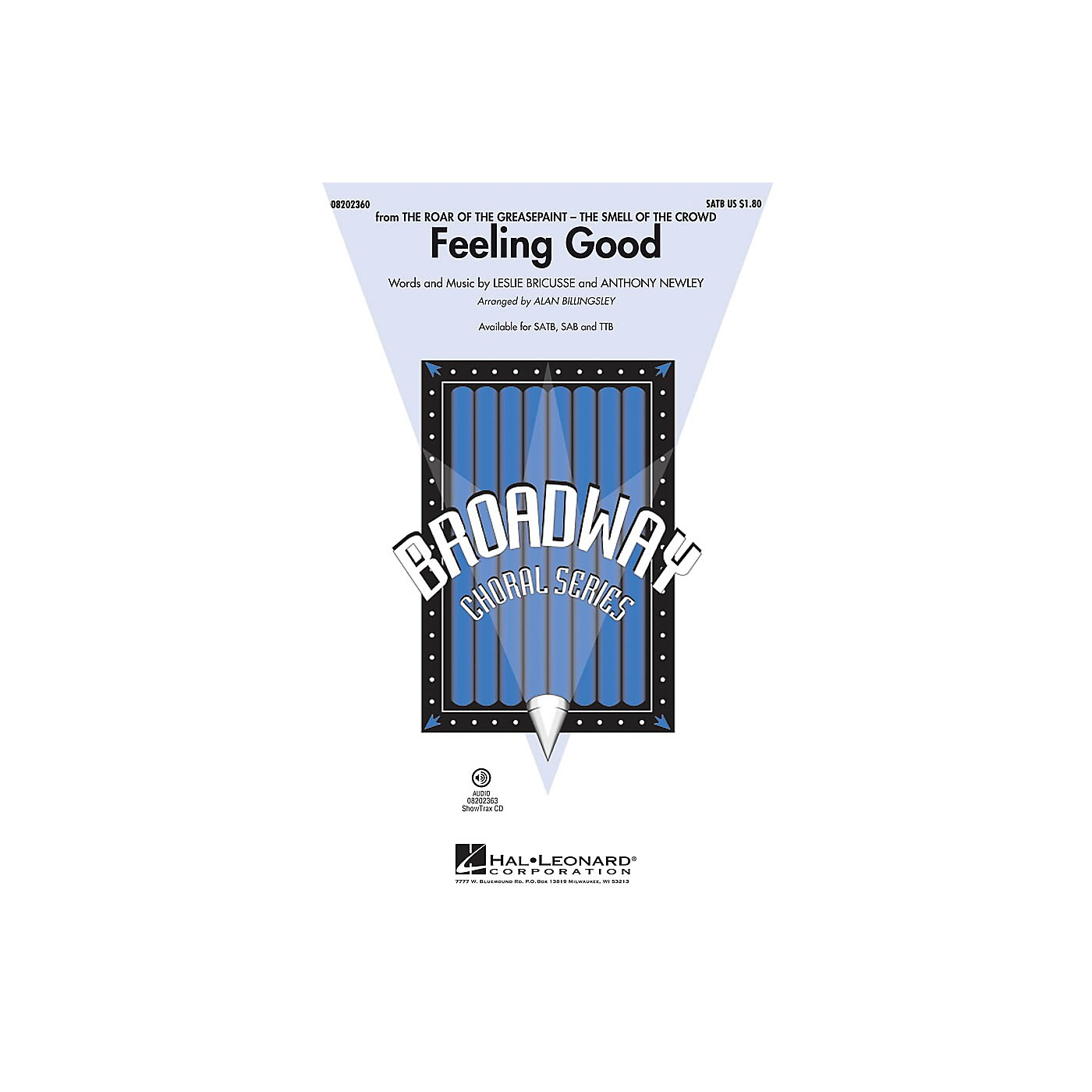 Hal Leonard Feeling Good (from The Roar of the Greasepaint) SATB by Michael Buble arranged by Alan Billingsley thumbnail