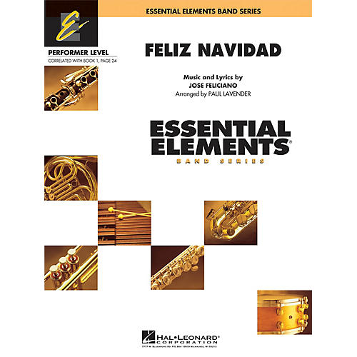Hal Leonard Feliz Navidad Concert Band Level .5 to 1 by Jose Feliciano Arranged by Paul Lavender thumbnail