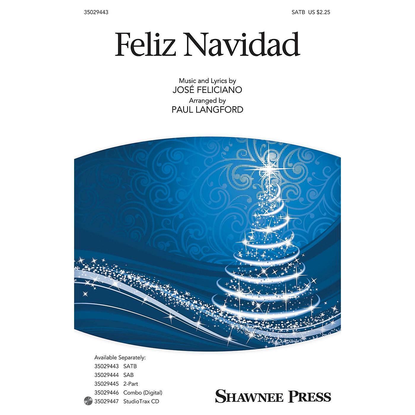 Shawnee Press Feliz Navidad SAB by Jose Feliciano Arranged by Paul Langford thumbnail