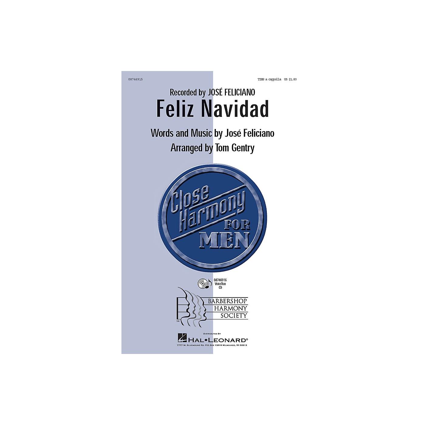 Barbershop Harmony Society Feliz Navidad TTBB A Cappella by Jose Feliciano arranged by Tom Gentry thumbnail