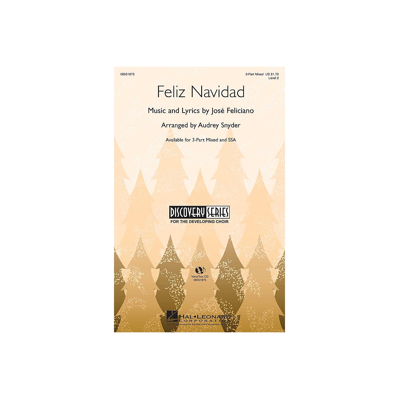Hal Leonard Feliz Navidad VoiceTrax CD Arranged by Audrey Snyder thumbnail