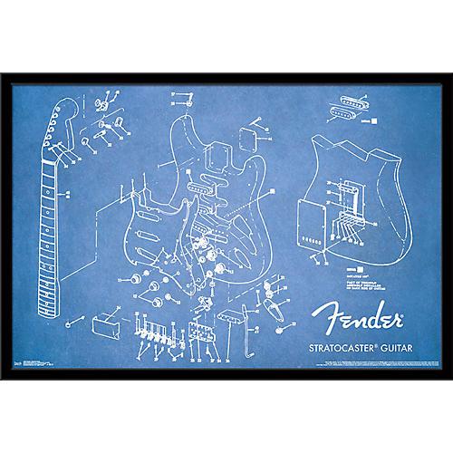 Trends International Fender - Exploded Strat Poster thumbnail