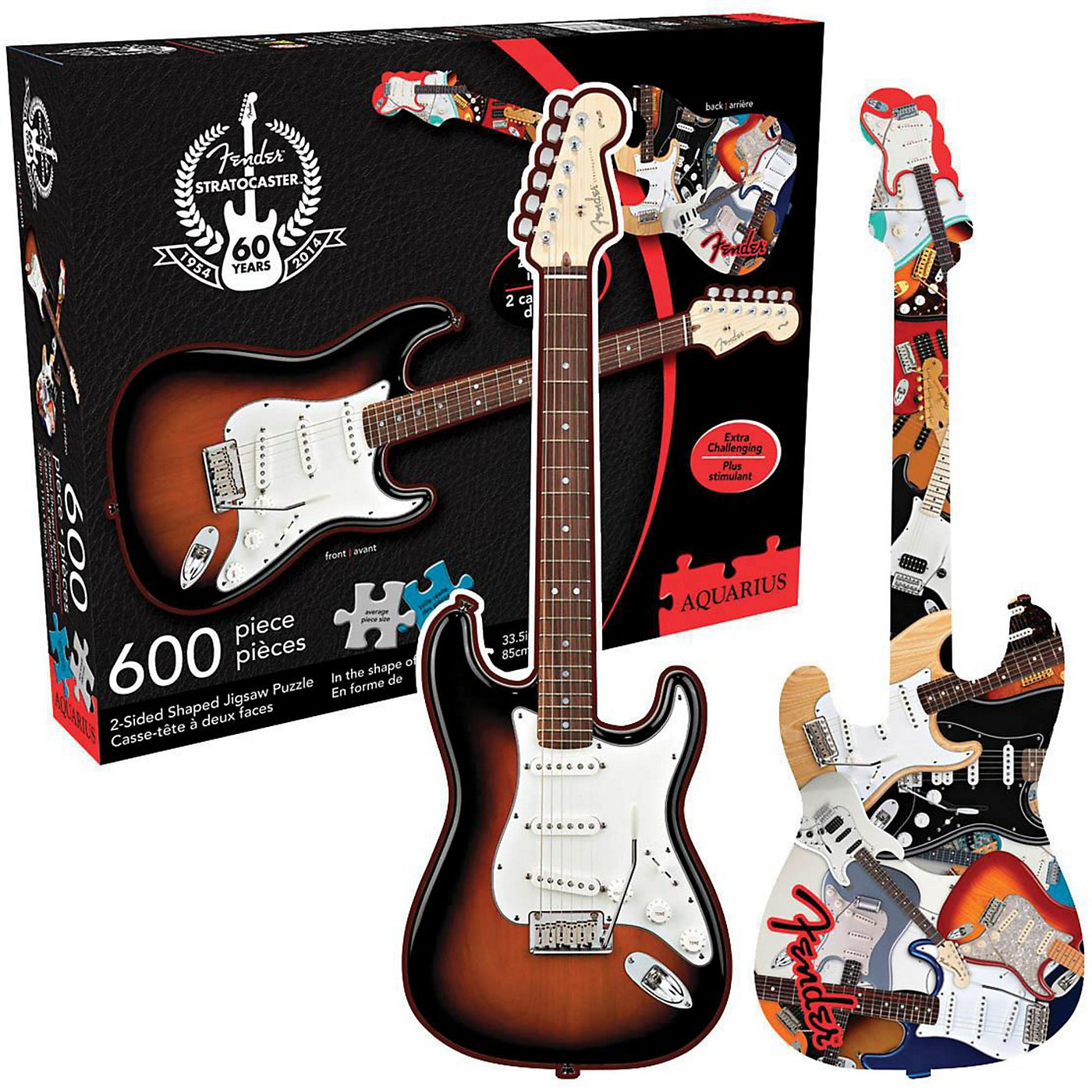 Hal Leonard Fender Guitar Shape - 600 Piece Two Sided Jigsaw Puzzle thumbnail