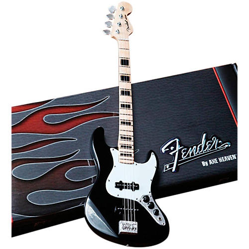 Axe Heaven Fender Jazz Bass Black Miniature Guitar Replica Collectible thumbnail