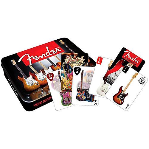 Hal Leonard Fender Playing Cards 2 DECK SET GIFT TIN thumbnail