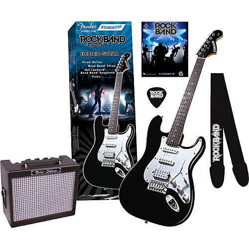 fender fender starcaster strat rock band electric guitar and mini deluxe amp value pack. Black Bedroom Furniture Sets. Home Design Ideas