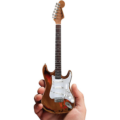 Axe Heaven Fender Stratocaster - Aged Sunburst Distressed Finish Officially Licensed Miniature Guitar Replica thumbnail