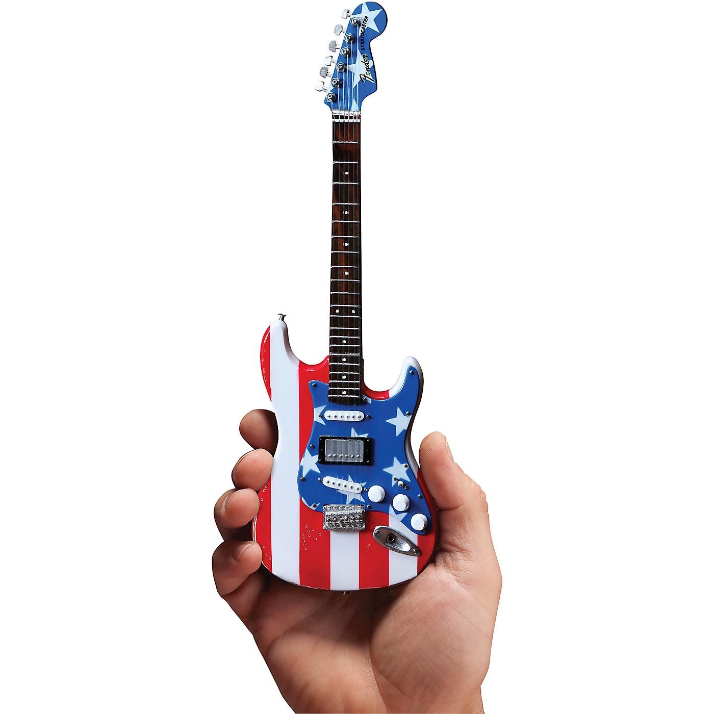 Axe Heaven Fender Stratocaster - Stars & Stripes USA - Wayne Kramer Officially Licensed Miniature Guitar Replica thumbnail