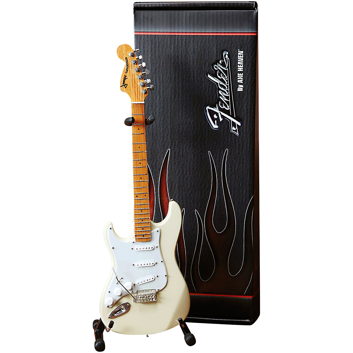 Axe Heaven Fender Stratocaster White with Reverse Headstock for Leftys Officially Licensed Mini Guitar Replica thumbnail