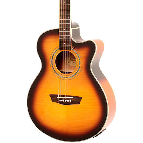 Washburn Festival EA15A Spruce Top With Flame Maple Veneer Acoustic Cutaway Electric Guitar With 4-Band EQ-thumbnail