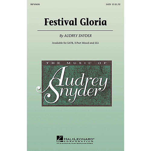 Hal Leonard Festival Gloria SATB composed by Audrey Snyder thumbnail