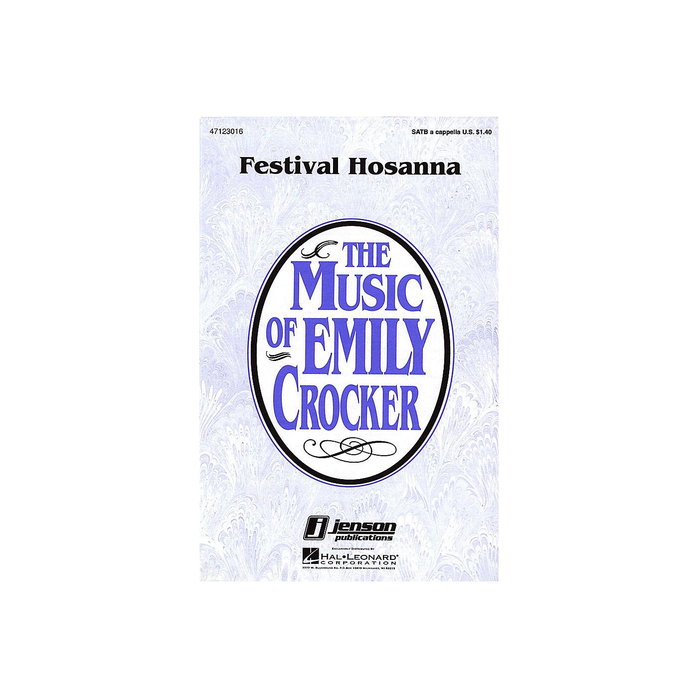 Hal Leonard Festival Hosanna SATB a cappella composed by Emily Crocker thumbnail