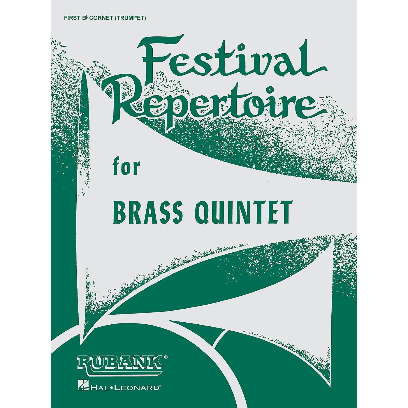 Rubank Publications Festival Repertoire for Brass Quintet (Baritone T.C. (4th Part)) Ensemble Collection Series thumbnail