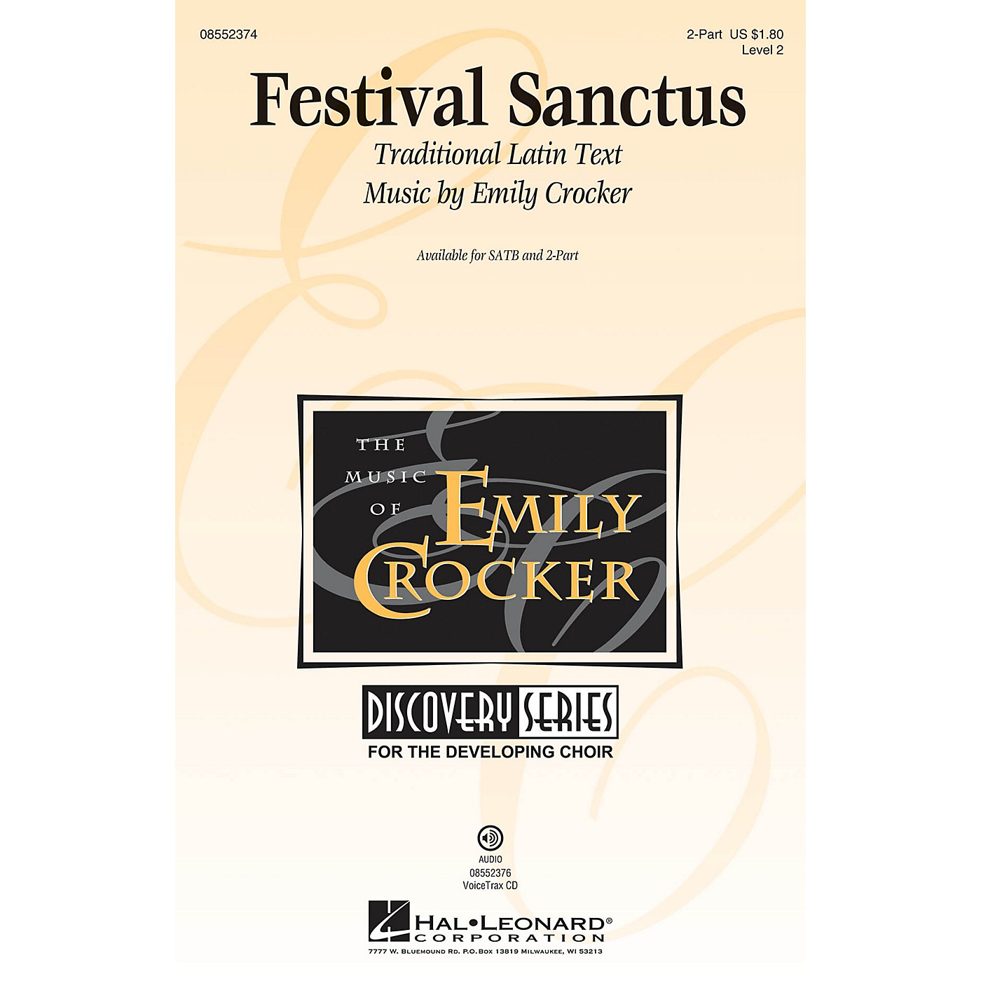 Hal Leonard Festival Sanctus (Discovery Level 2) SATB Composed by Emily Crocker thumbnail