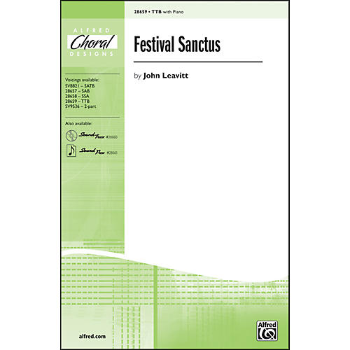 Alfred Festival Sanctus TTB Choral Octavo thumbnail