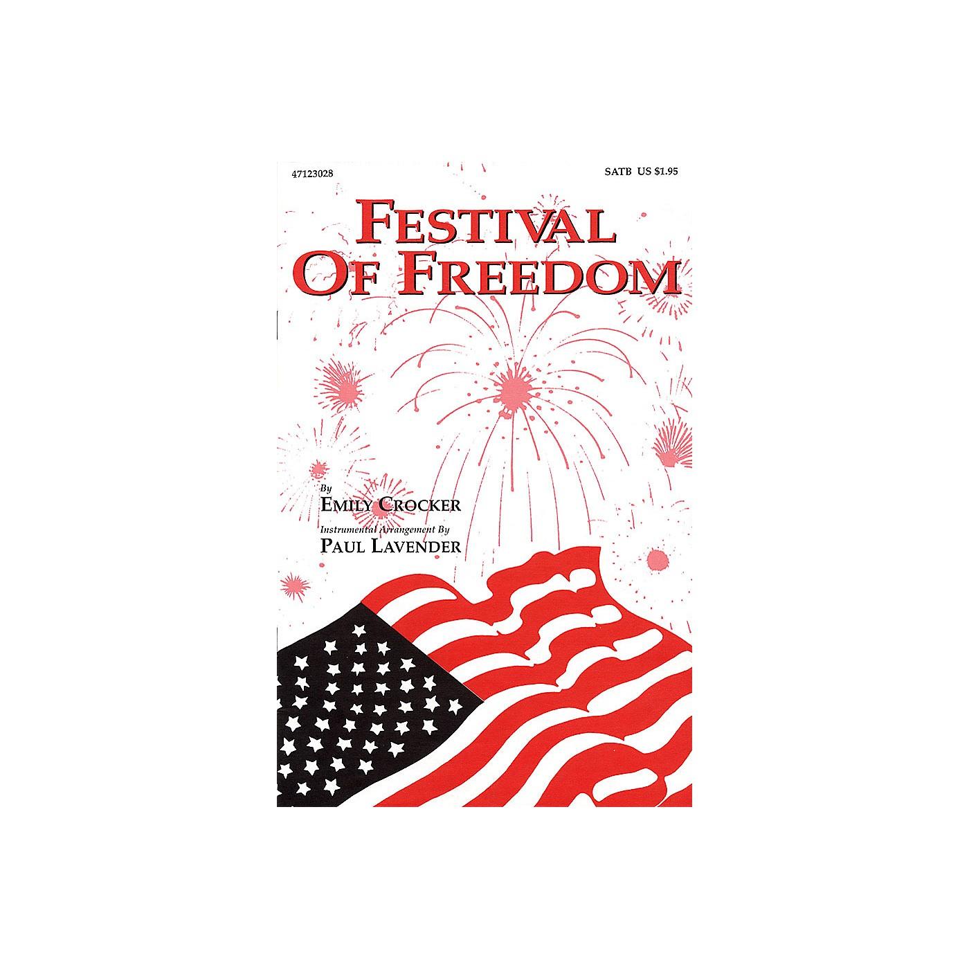Hal Leonard Festival of Freedom SATB arranged by Emily Crocker thumbnail