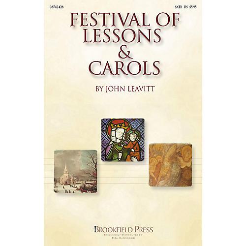 Brookfield Festival of Lessons & Carols (SATB) SATB arranged by John Leavitt thumbnail