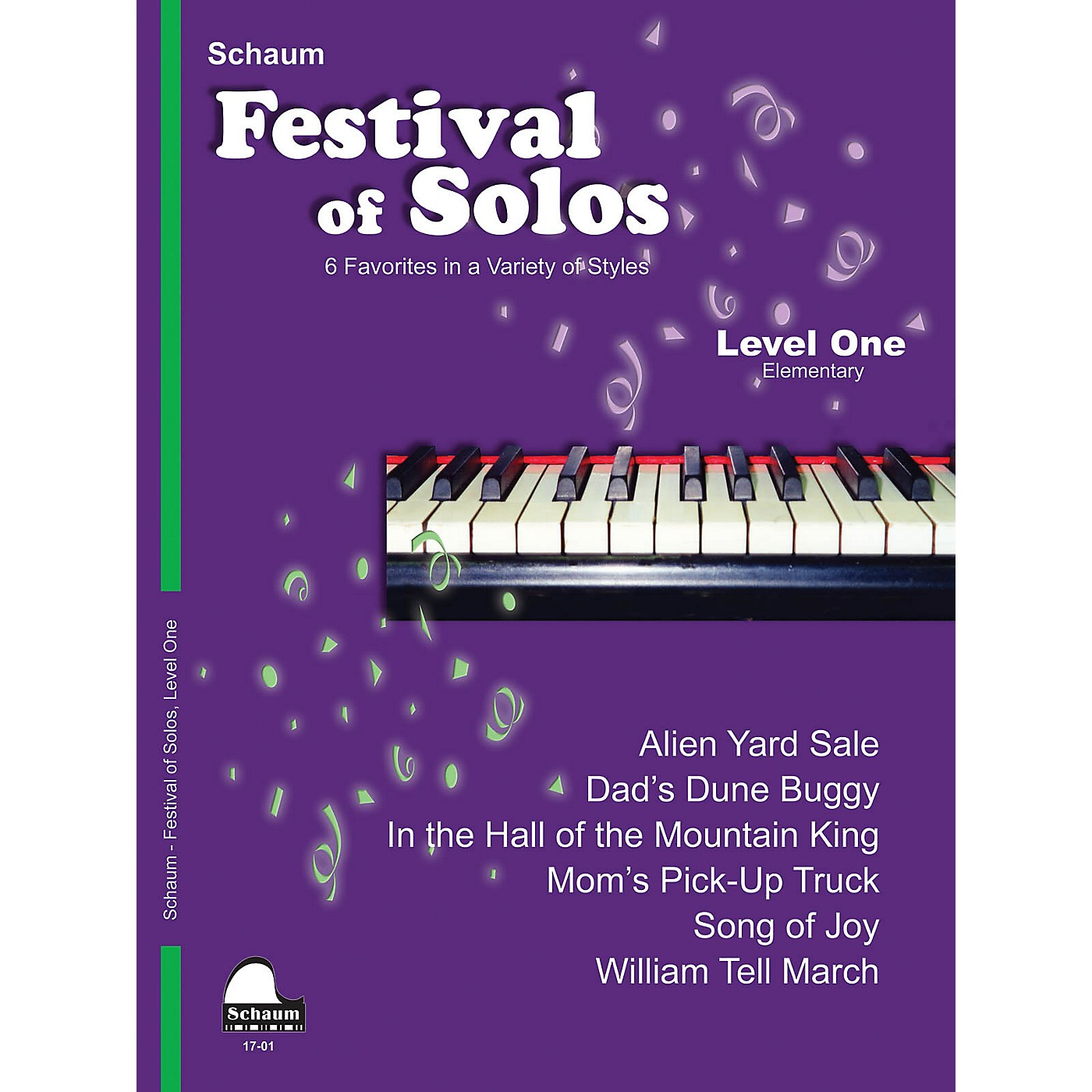 SCHAUM Festival of Solos (Level 1 Elem Level) Educational Piano Book by Various thumbnail