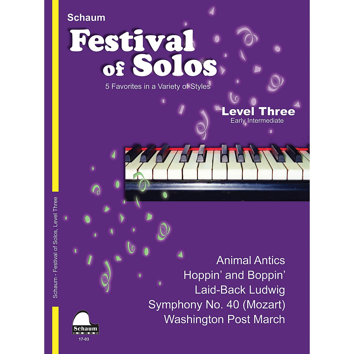 SCHAUM Festival of Solos (Level 3 Early Inter Level) Educational Piano Book by Various thumbnail