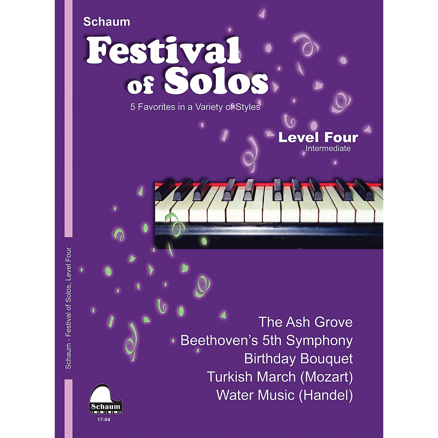 SCHAUM Festival of Solos (Level 4 Inter Level) Educational Piano Book by Various thumbnail