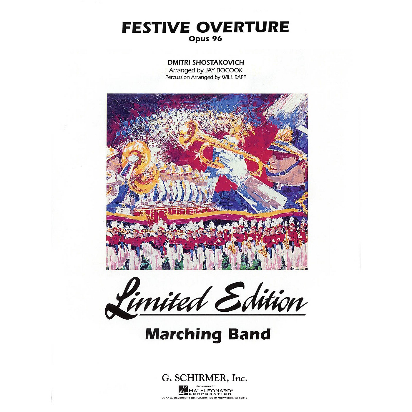 G. Schirmer Festive Overture Marching Band Level 5 Composed by Dmitri Shostakovich Arranged by Jay Bocook thumbnail