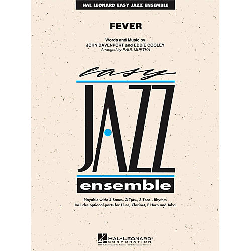 Hal Leonard Fever - Easy Jazz Ensemble Series Level 2 thumbnail