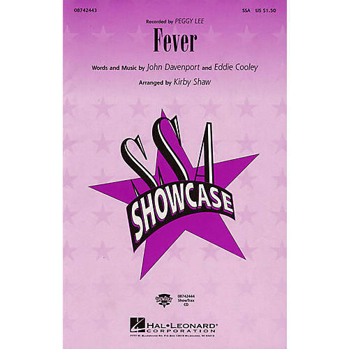 Hal Leonard Fever (ShowTrax CD) by Peggy Lee Arranged by Kirby Shaw thumbnail