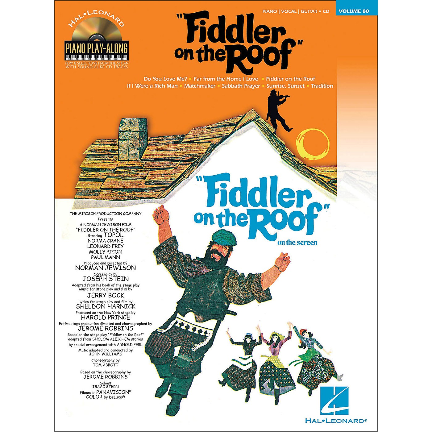Hal Leonard Fiddler On The Roof - Piano Play-Along Volume 80 (Book/CD) arranged for piano, vocal, and guitar (P/V/G) thumbnail
