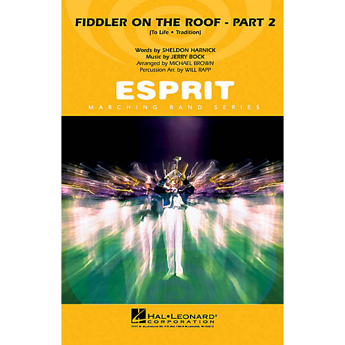 Hal Leonard Fiddler on the Roof - Part 2 Marching Band Level 3 Arranged by Michael Brown/Will Rapp thumbnail