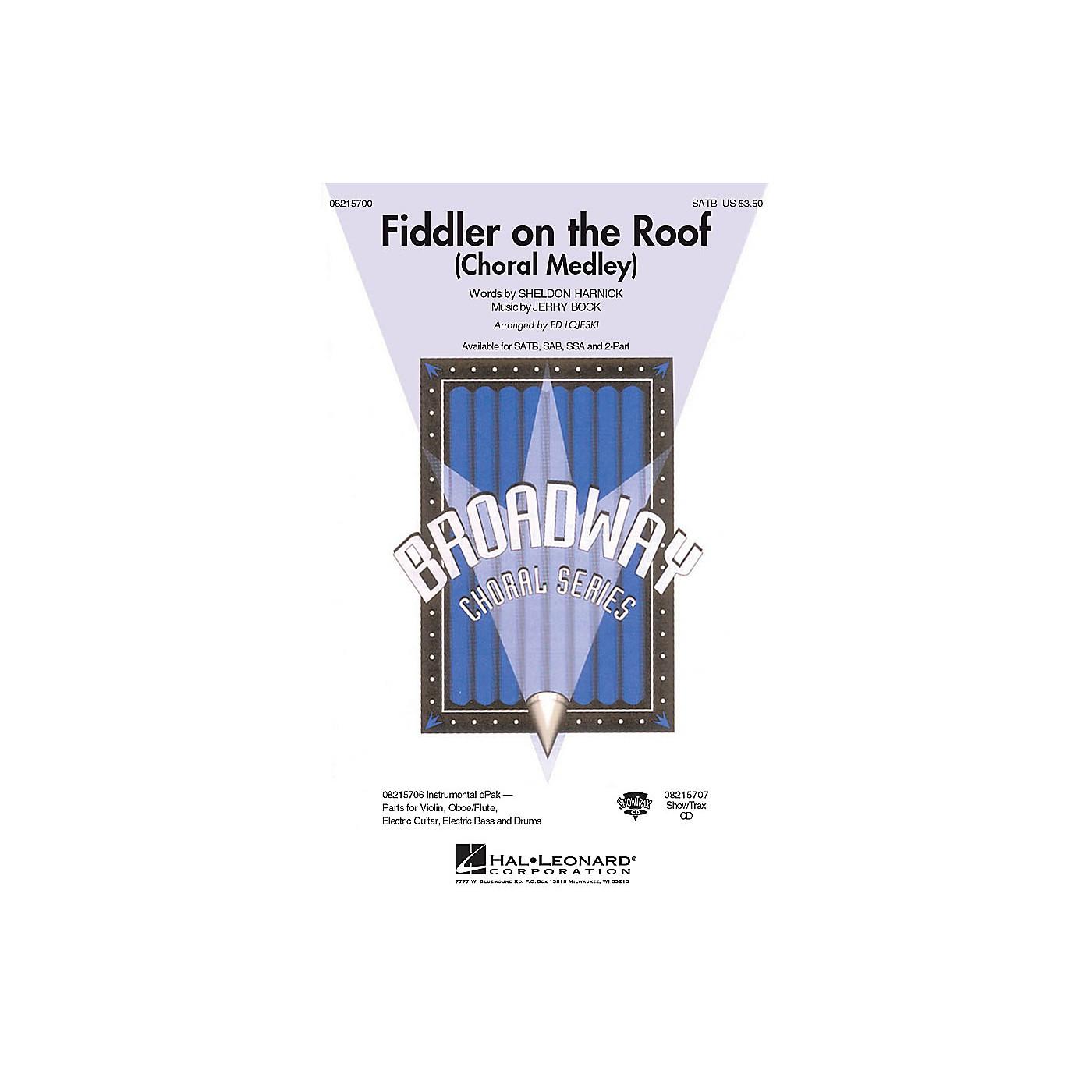 Hal Leonard Fiddler on the Roof (Choral Medley) SATB arranged by Ed Lojeski thumbnail