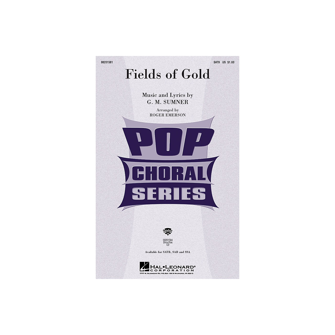 Hal Leonard Fields of Gold SSA by Eva Cassidy Arranged by Roger Emerson thumbnail