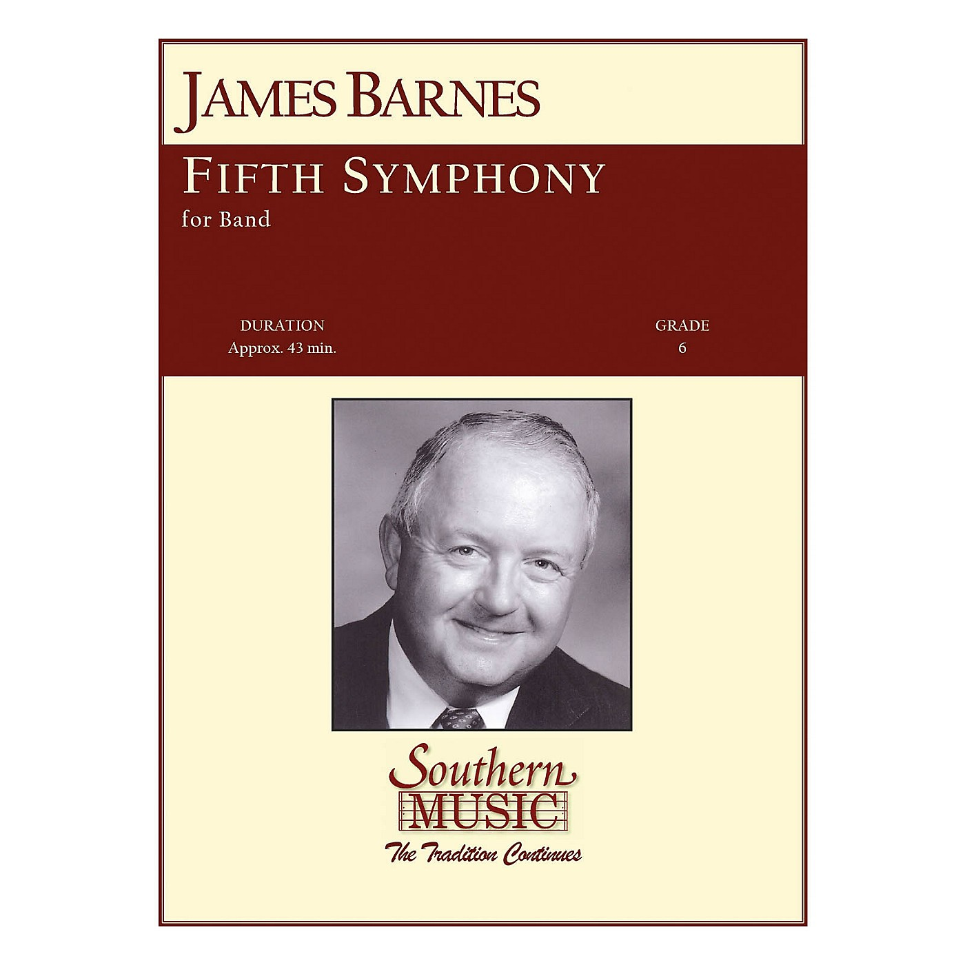 Southern Fifth Symphony Concert Band Level 6 Composed by James Barnes thumbnail
