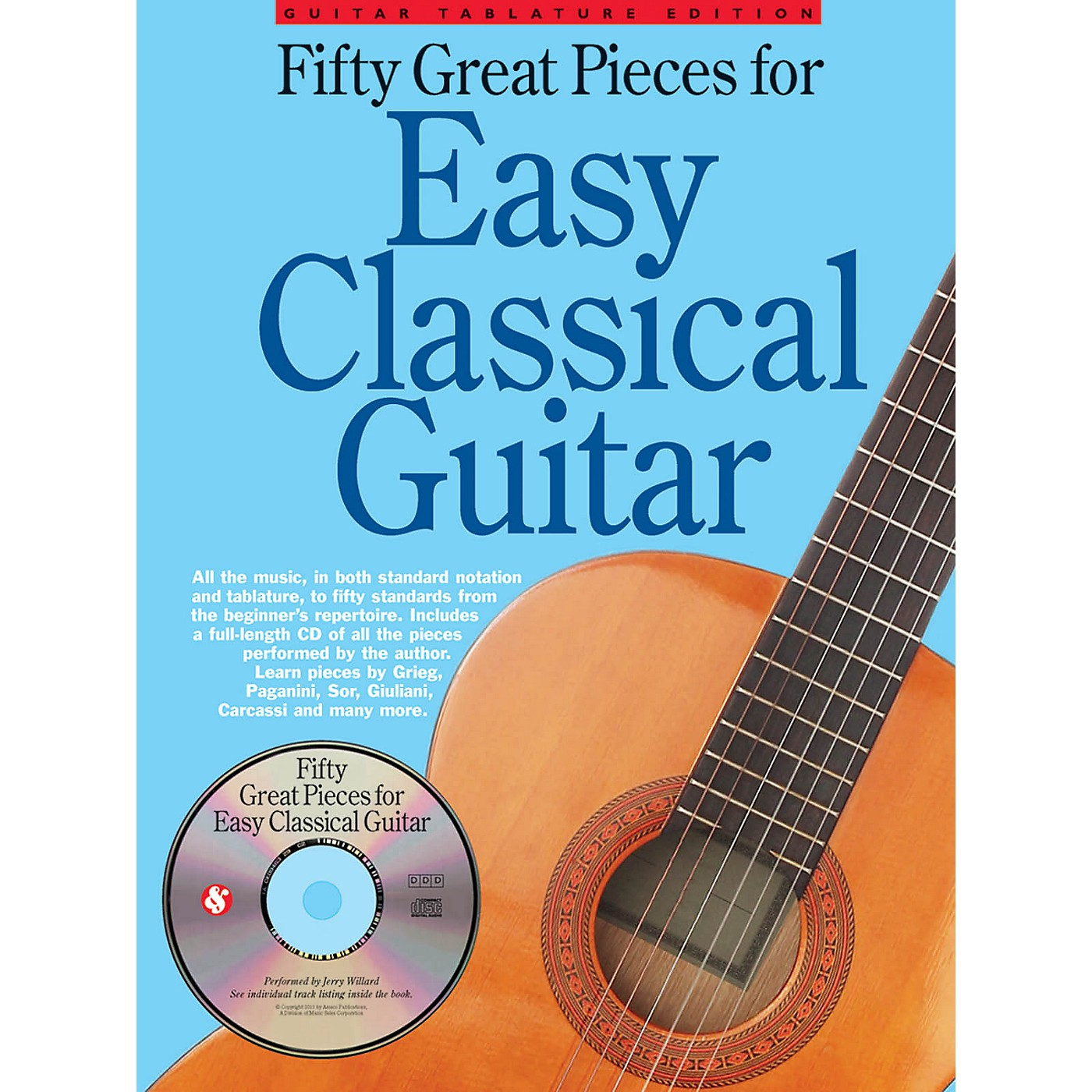 Music Sales Fifty Great Pieces for Easy Classical Guitar Guitar Series Softcover with CD thumbnail