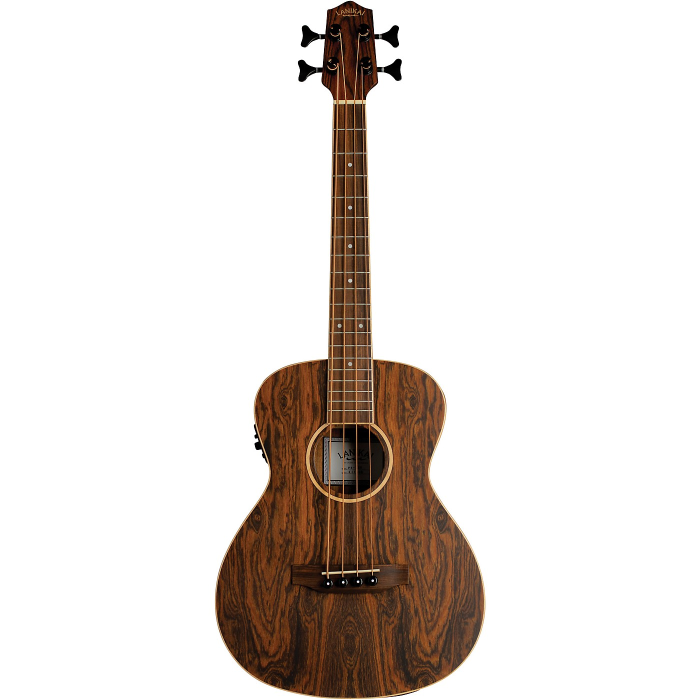 Lanikai Figured Bocote Bass Ukulele Electric with Fishman Classica II Pickup and Tuner thumbnail