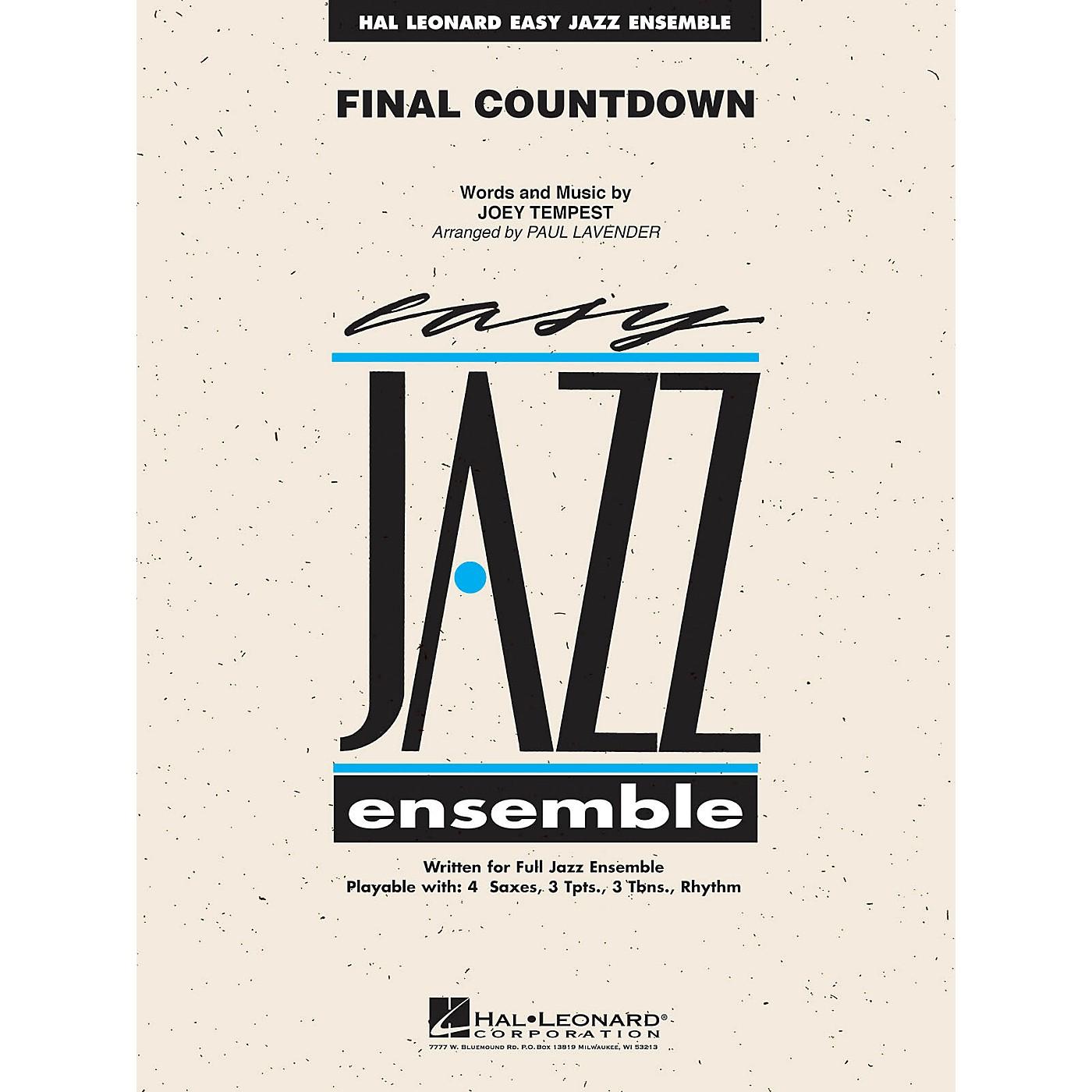Hal Leonard Final Countdown Jazz Band Level 2 Arranged by Paul Lavender thumbnail