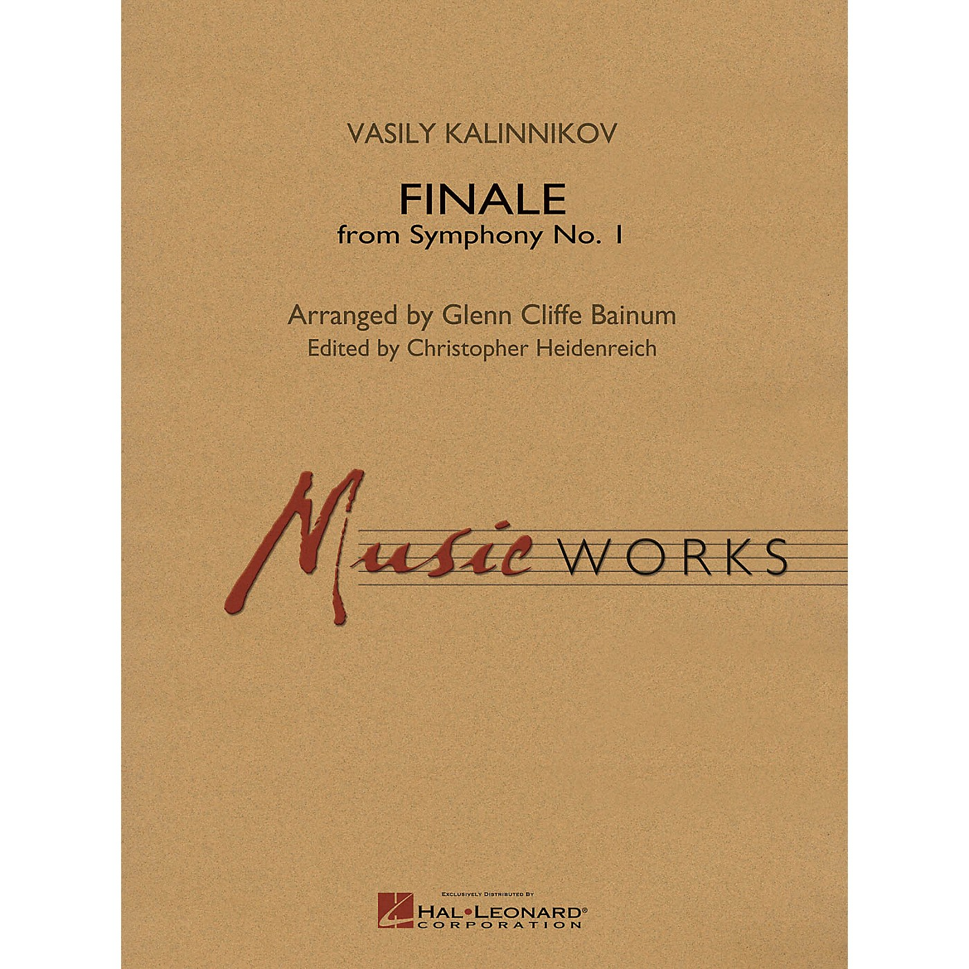 Hal Leonard Finale from Symphony No. 1 (Revised Edition) Concert Band Level 5 Arranged by Glenn Cliffe Bainum thumbnail