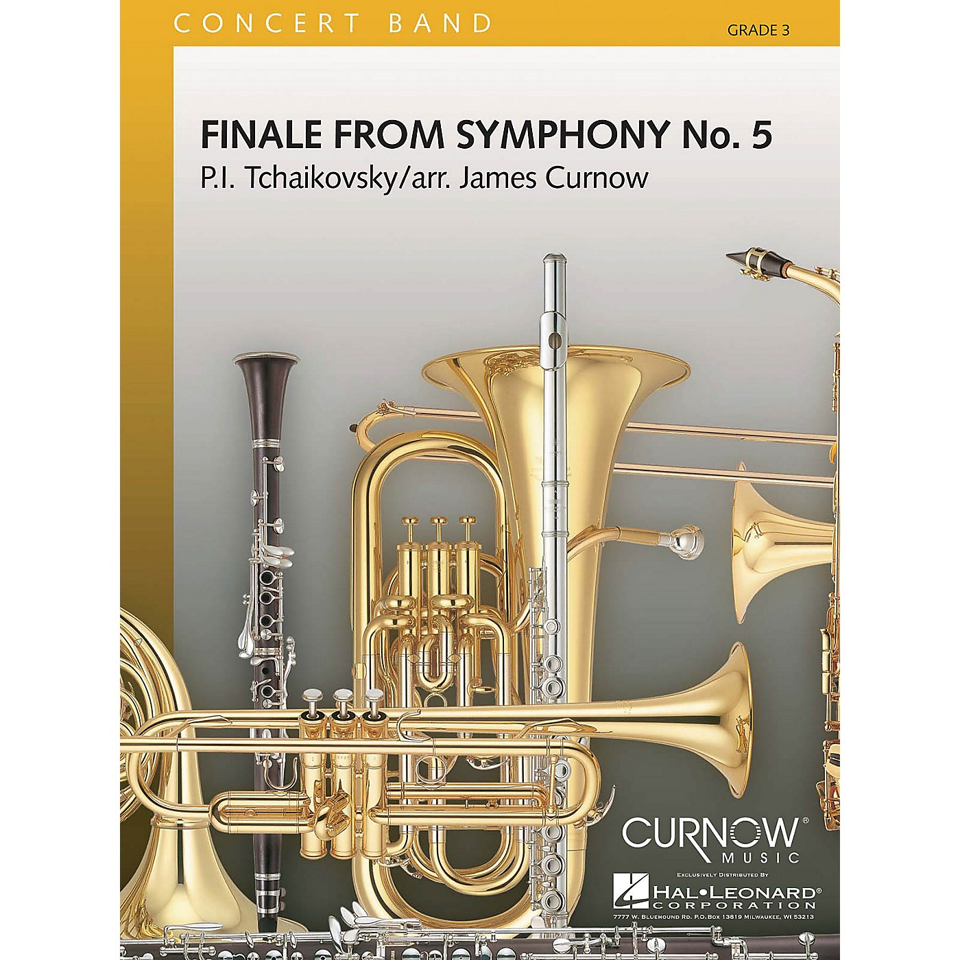 Curnow Music Finale from Symphony No. 5 Concert Band Level 3 Composed by Pyotr Il'yich Tchaikovsky Arranged by James Curnow thumbnail