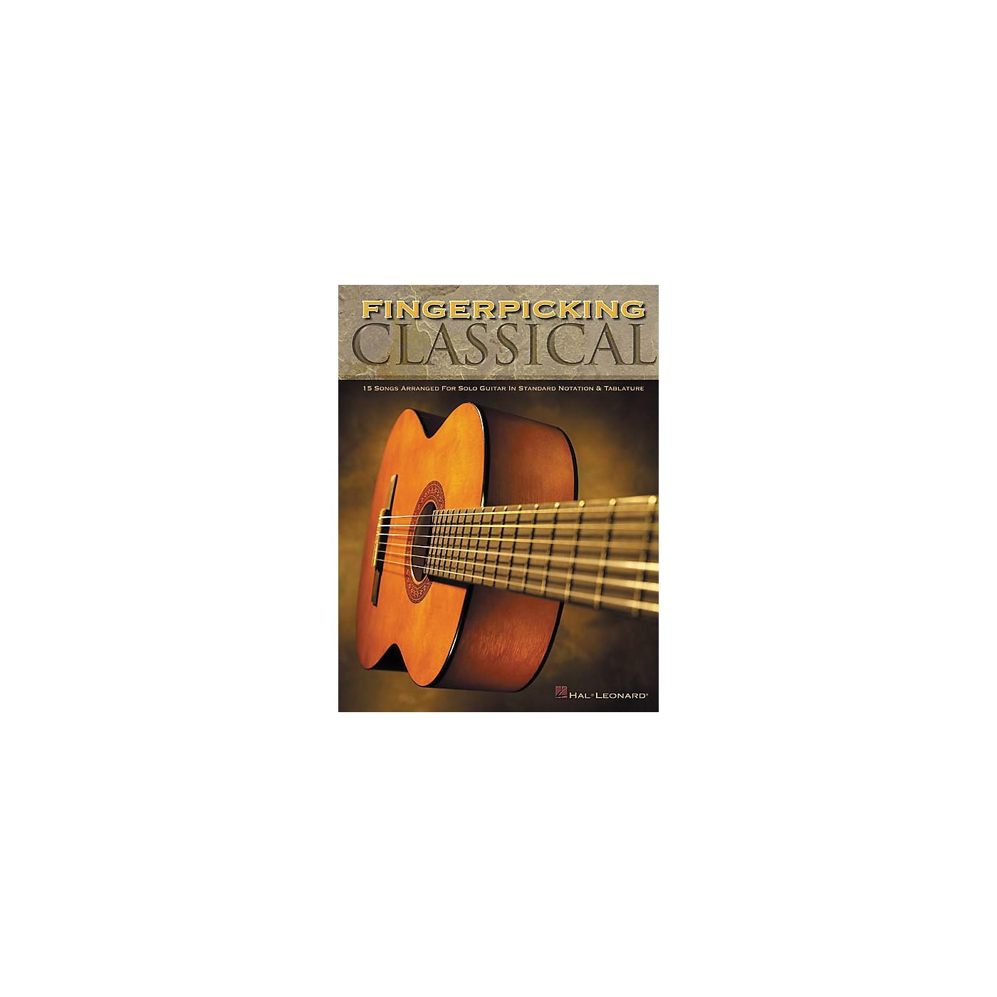 Hal Leonard Fingerpicking Classical Solo Guitar Tab Book thumbnail