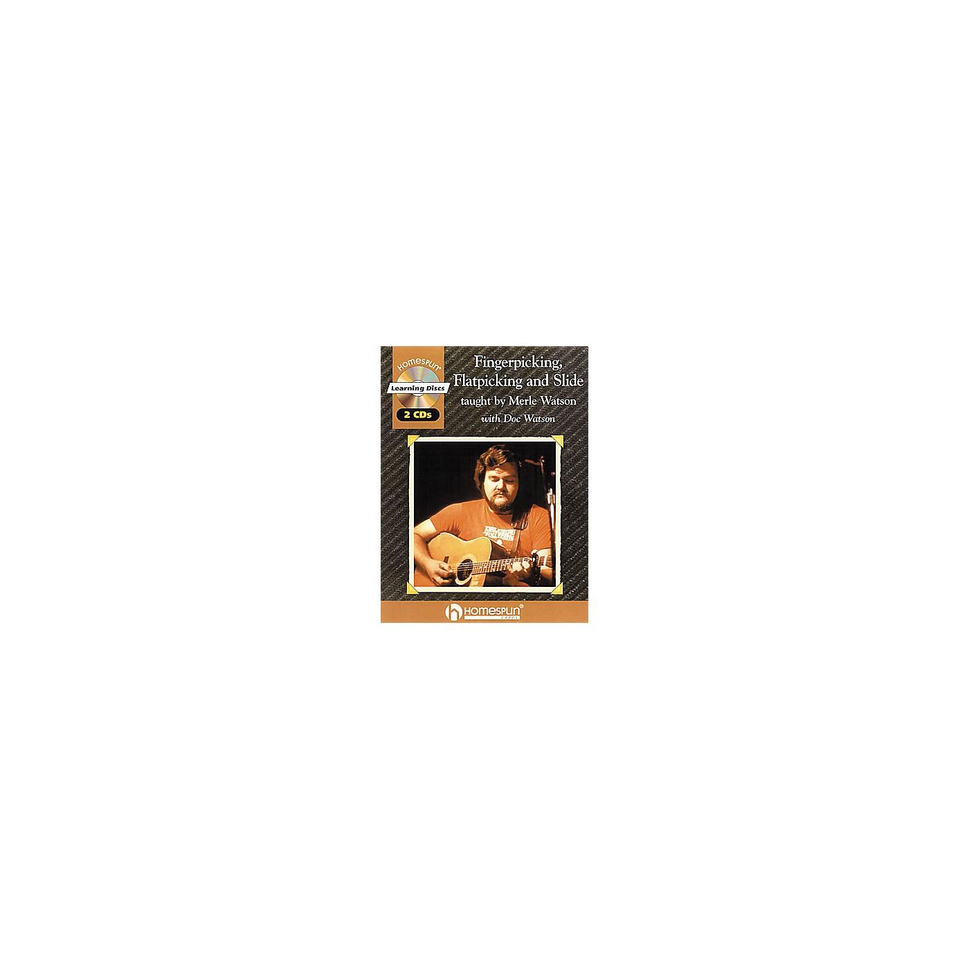 Homespun Fingerpicking, Flatpicking and Slide (Book/CD) thumbnail