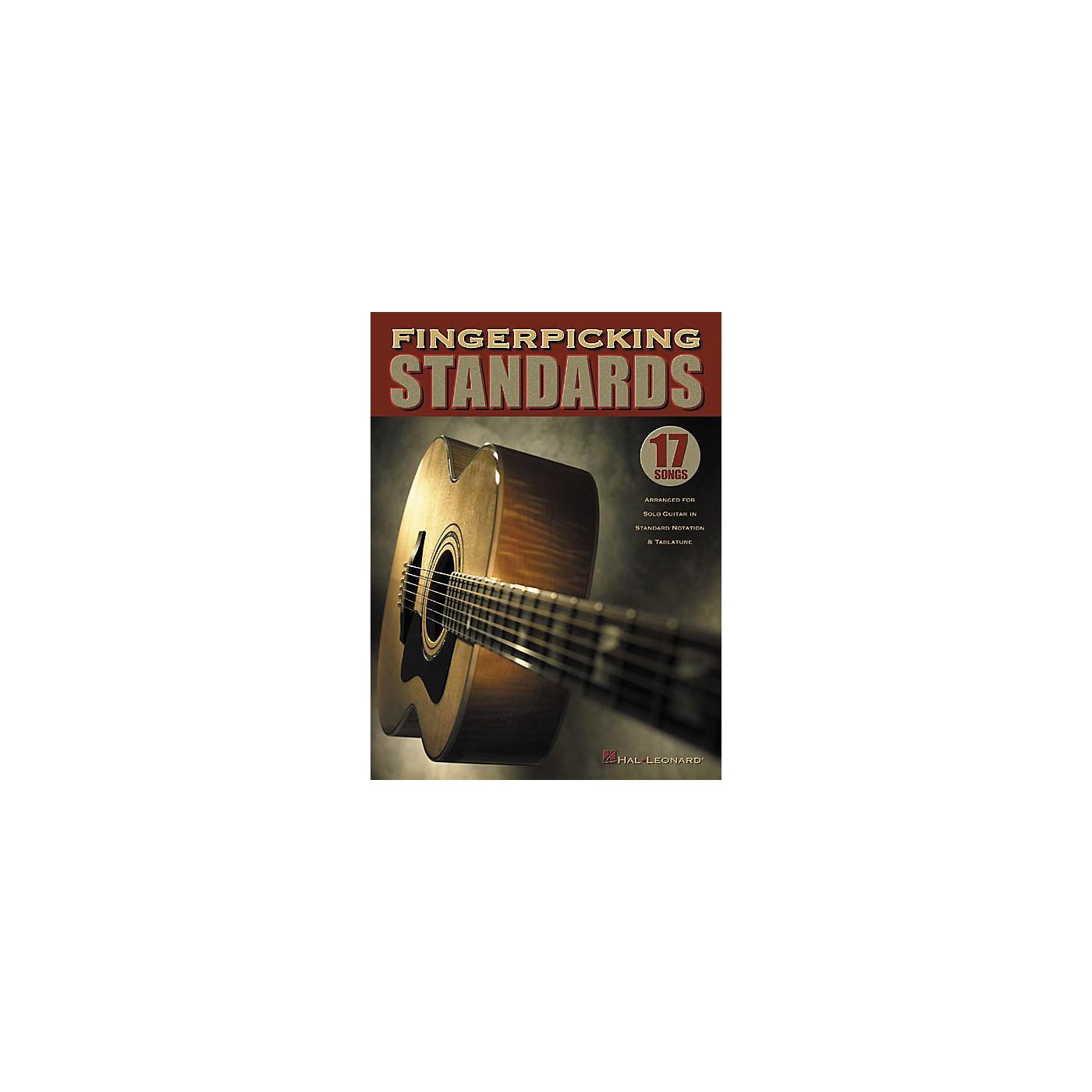 Hal Leonard Fingerpicking Standards Solo Guitar Tab Book thumbnail