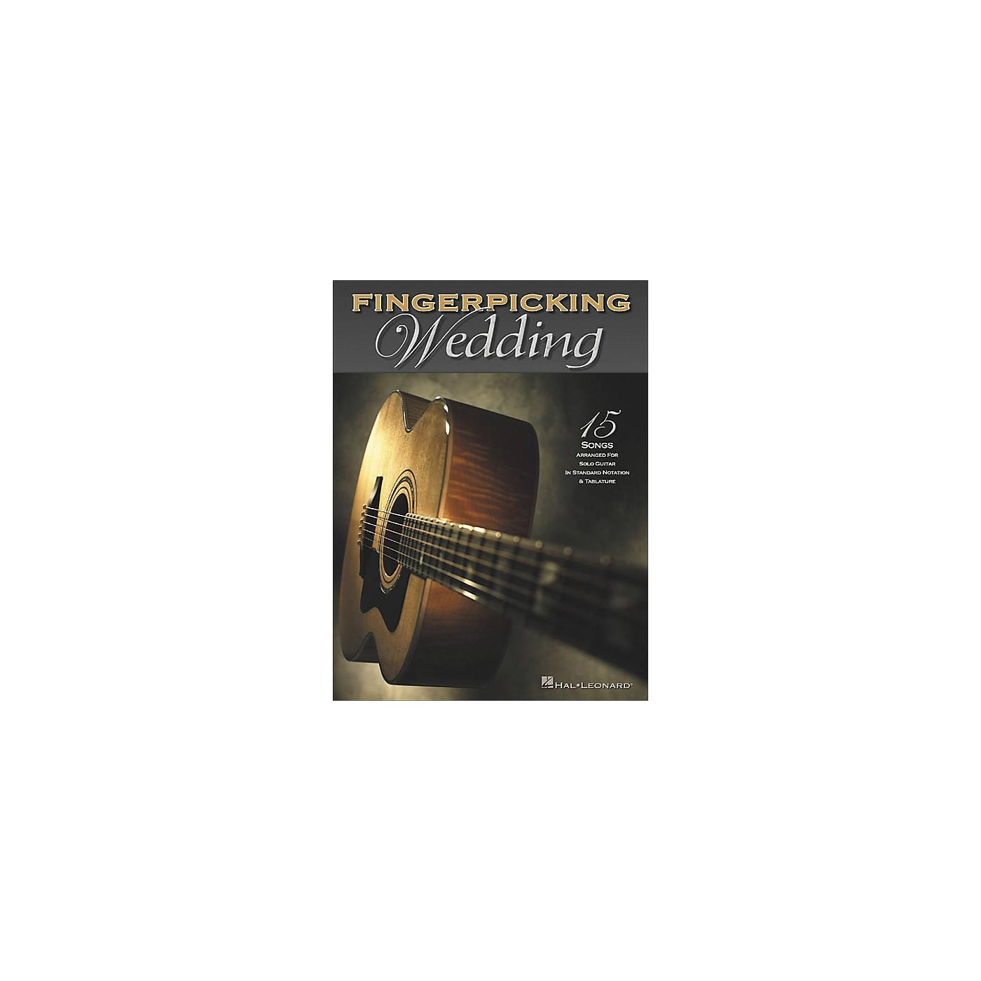 Hal Leonard Fingerpicking Wedding Solo Guitar Tab Book thumbnail
