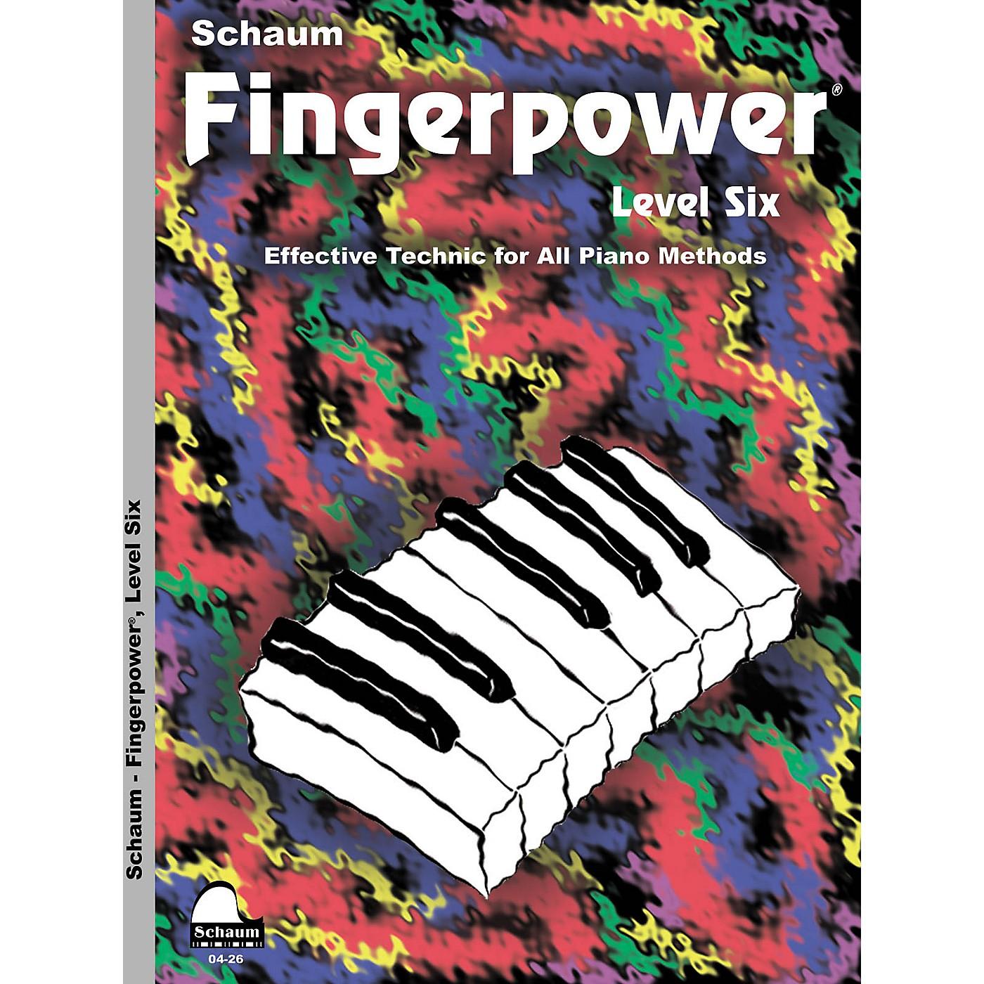 SCHAUM Fingerpower - Level 6 Educational Piano Series Softcover Written by John W. Schaum thumbnail