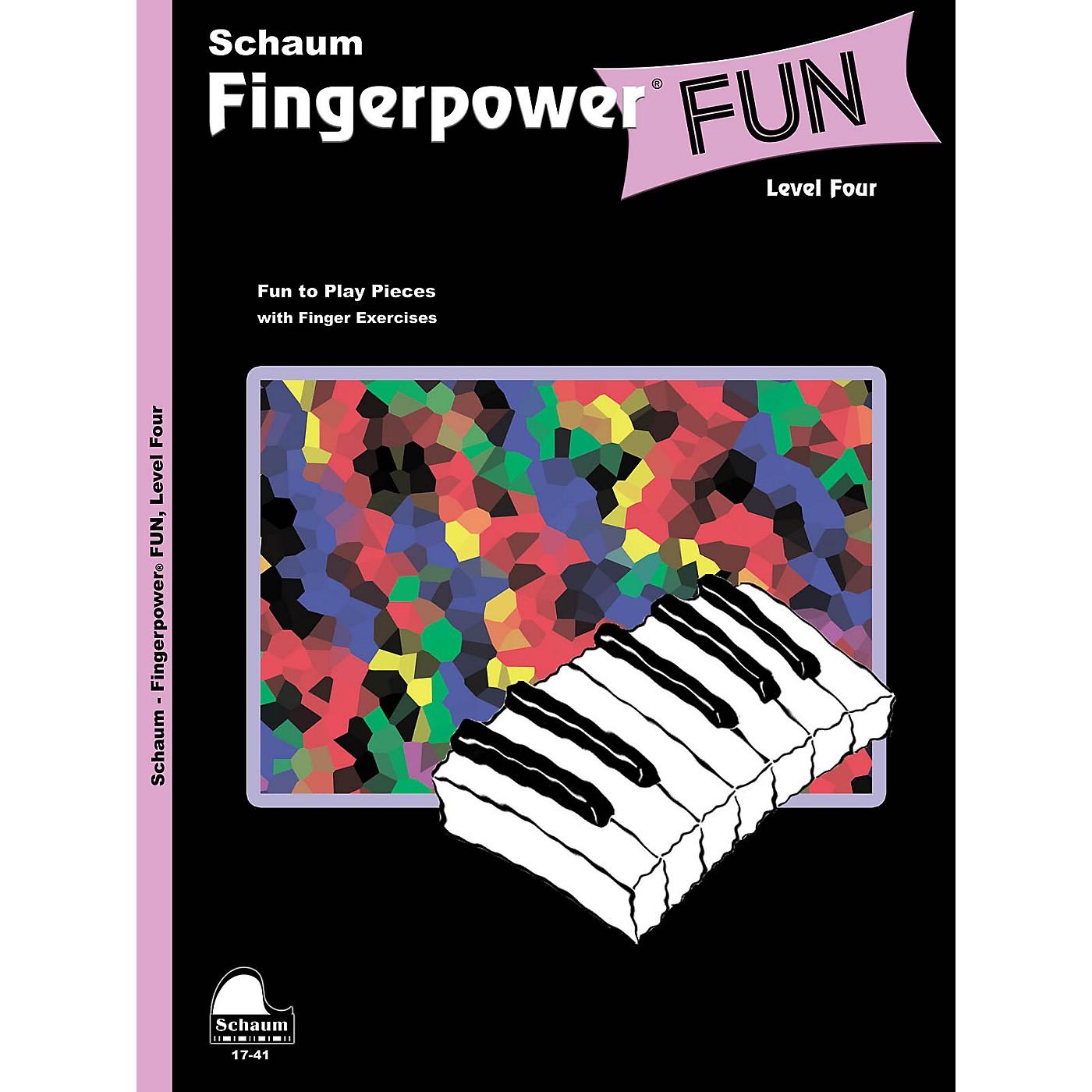 SCHAUM Fingerpower® Fun (Level 4 Inter Level) Educational Piano Book thumbnail
