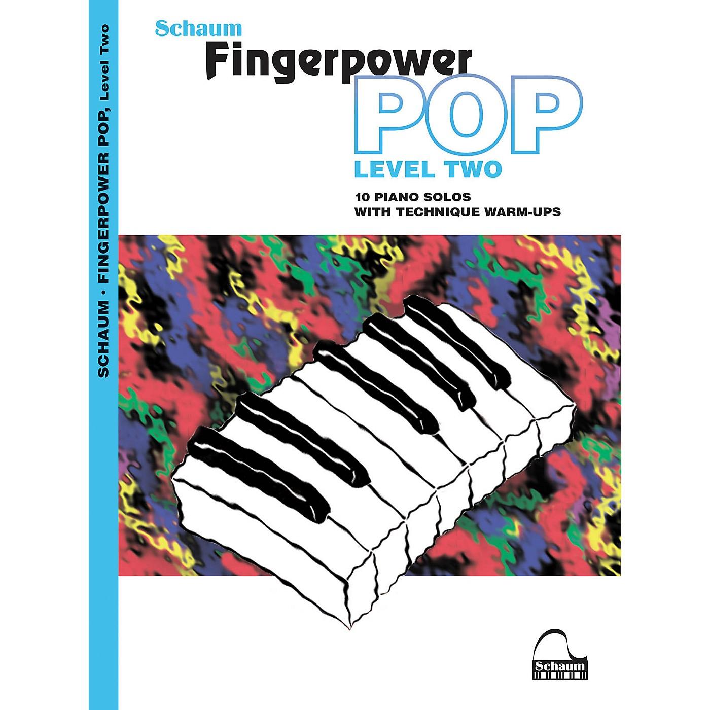 SCHAUM Fingerpower Pop - Level 2 (10 Piano Solos with Technique Warm-Ups) Book thumbnail