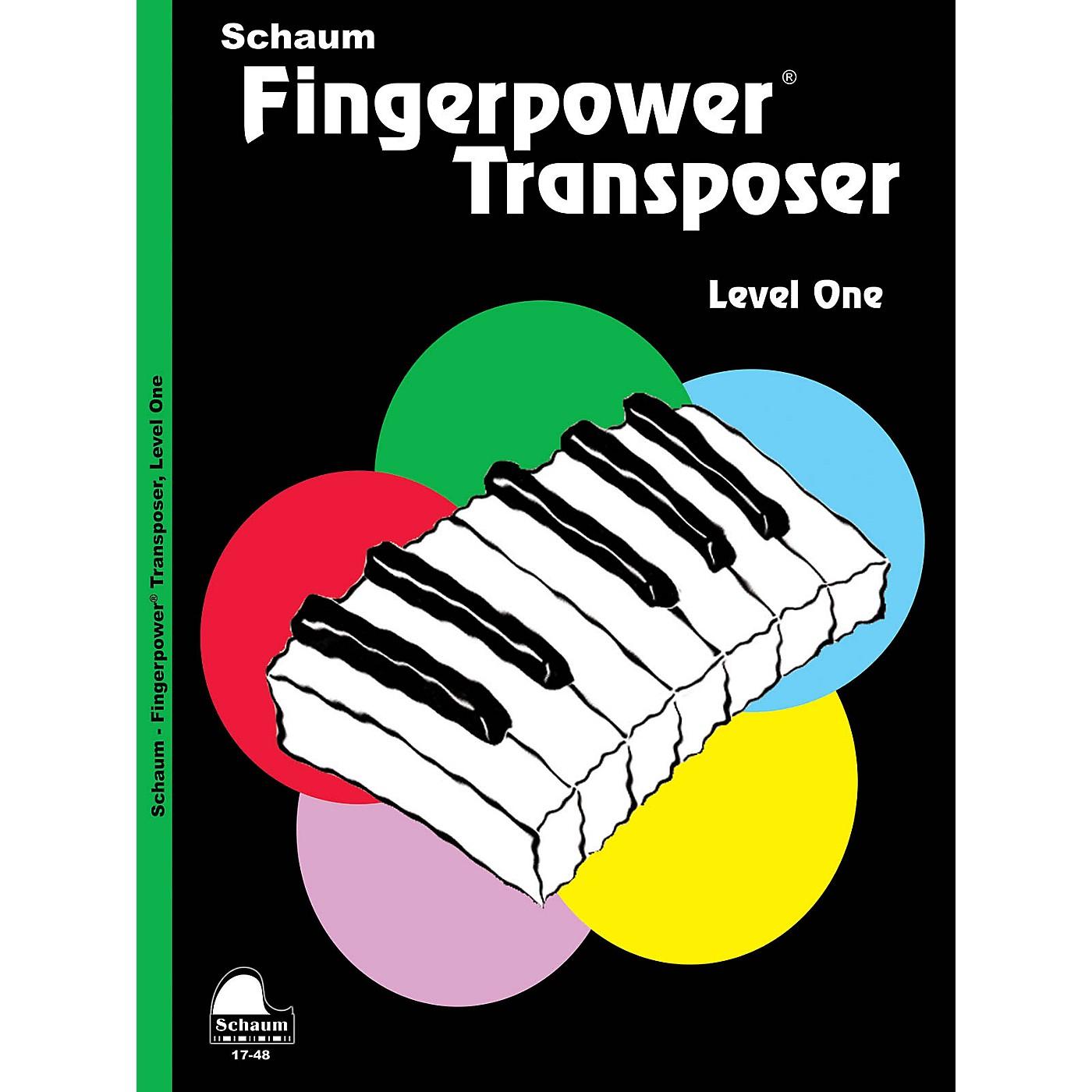 SCHAUM Fingerpower® Transposer (Level 1 Elem Level) Educational Piano Book by Wesley Schaum thumbnail