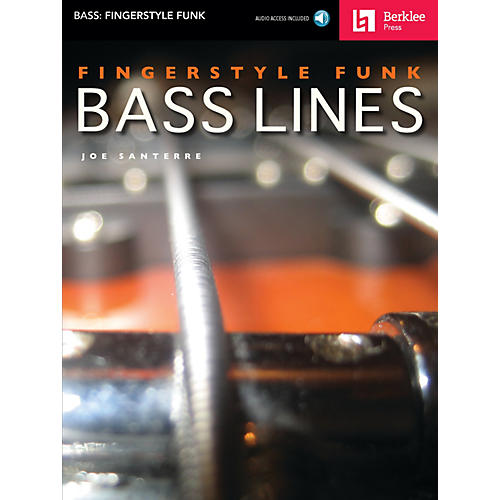 Berklee Press Fingerstyle Funk Bass Lines Berklee Guide Series Softcover with CD Written by Joe Santerre thumbnail