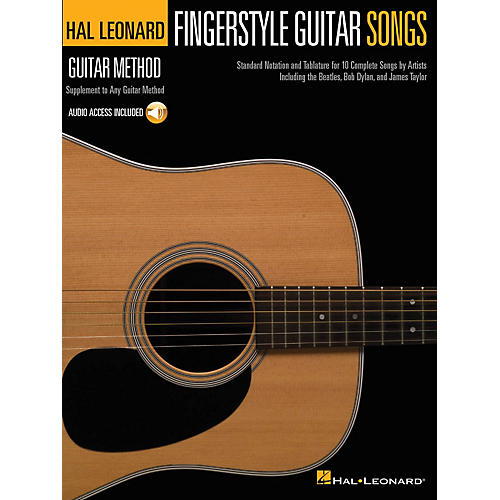Hal Leonard Fingerstyle Guitar Songs Guitar Method Series Softcover Audio Online Performed by Various thumbnail