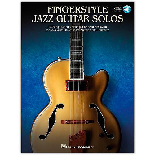 Hal Leonard Fingerstyle Jazz Guitar Solos Songbook Book/Audio Online thumbnail