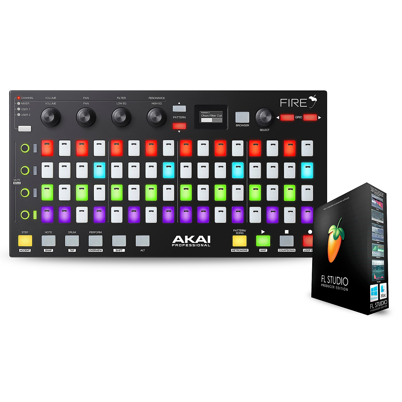 Akai Professional Fire FL Studio Controller with FL Studio Producer Edition thumbnail
